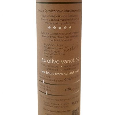 Ekstra Djevičansko Maslinovo ulje 0.25L