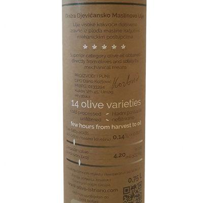 Ekstra Djevičansko Maslinovo ulje 0.75L