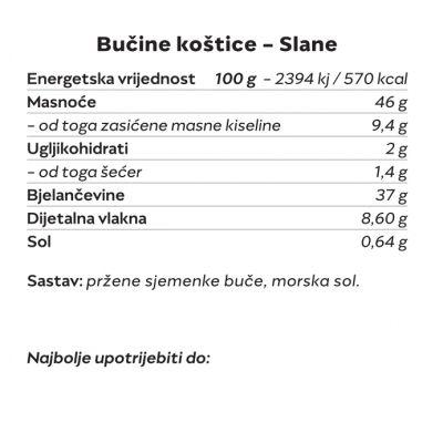 Bučine koštice (Slane) 200g