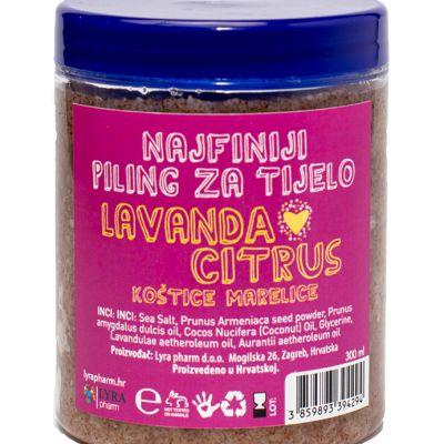 Piling za tijelo lavanda citrus koštica marelice