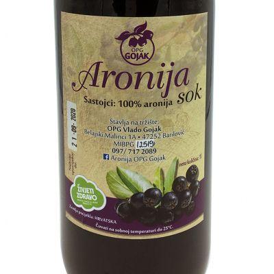 Aronija sok 1l