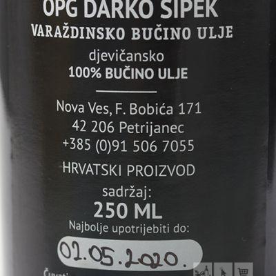 Varaždinsko bučino ulje 250ml