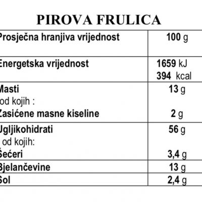 Pirove frulice, origano-maslinovo ulje