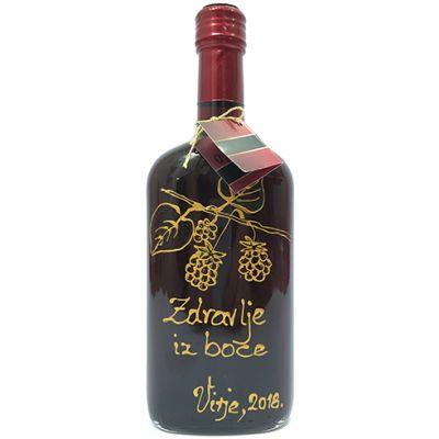 Kupinovo vino 0,5 l ručno oslikana boca