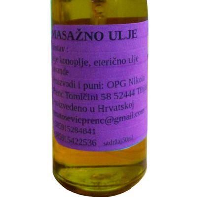 Masažno ulje konoplje Lavanda 50 ml