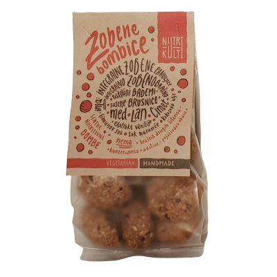 Zobene bombice, slatki keks brusnica-badem