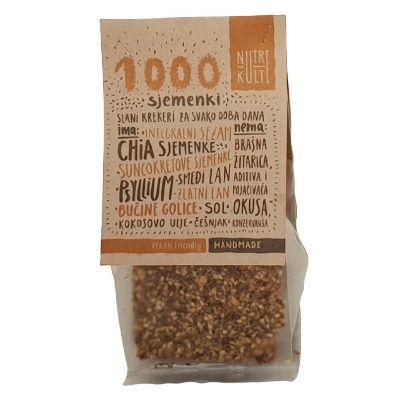 1000 sjemenki, krekeri sa sjemenkama bez brašna