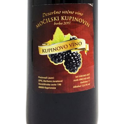 Desertno kupinovo vino Močilski Kupinovin 1 l