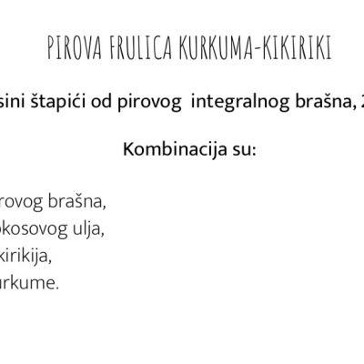 Pirove frulice, kurkuma-kikiriki